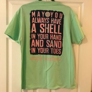 Simply southern T shirt in seafoam green